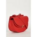 NEW WOMENS GORGEOUS RED CROSSBODY SHOULDER BAG WITH TWIN MAGNET CLOSURE FOR LADIES