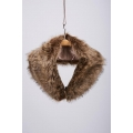 NEW WOMENS GORGEOUS WINTER SEASON BROWN FOX FUR COLLAR