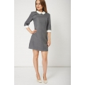 NEW WOMENS GORGEOUS STYLISH LADIES GREY COLLAR DRESS Sizes XS S M L