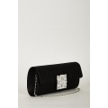 NEW WOMENS GORGEOUS STYLISH LADIES EVENING CLUTCH BAG WITH PEARLS AND DIAMOND DETAILS