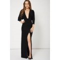 NEW WOMENS GORGEOUS TOP QUALITY HIGH THIGH SPLIT MAXI DRESS SIZES 8-14
