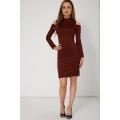 NEW WOMENS GORGEOUS PLAIN COLD SHOULDER DRESS EX-BRANDED SIZES 8 10 12 14 16