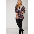NEW WOMENS GORGEOUS LEAF PRINT TOP WITH LACE DETAILS sizes 16-32