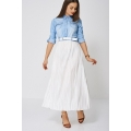 NEW Ladies women MAXI DRESS WITH PLEATED SKIRT EX-BRANDED SIZES S M L XL