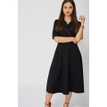 NEW Ladies women DRESS WITH CONTRAST COLLAR SIZES 10 12 14 16 18