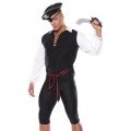 Adult Male Man    Men's Pirate Costume  S/M Fancy dress outfit