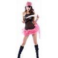 Adult Female Women Sexy Pink Pirate Costume small Fancy dress costume outfit