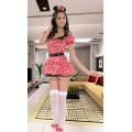 WOMENS LADIES HEN NIGHT PARTY FANCY DRESS Miss Mouse M 10 12 COSTUME OUTFIT D 2