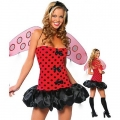 WOMENS/LADIES Lil Ladybug Costume Fancy Dress Costume Outfit
