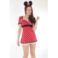 WOMENS LADIES HEN NIGHT PARTY FANCY DRESS Miss Mischief 8/10 COSTUME OUTFIT Worl