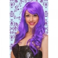 Ladies Women Adult Purple Wig  Costume Outfit Hen night