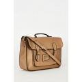 NEW Ladies women BEIGE ZIP FASTENING SATCHEL BAG