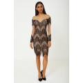 NEW Ladies women BIK BOK MESH DRESS IN BLACK LACE sizes XS (8) S (10) M (12) L (14)