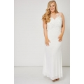 NEW Ladies women OFF WHITE MESH TOP BEADED DRESS 14 16 18 20