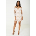 NEW Ladies women BIK BOK MESH DRESS IN WHITE LACE sizes XS (8) S (10) M (12) L (14)