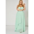 NEW Ladies women GREEN PLEATED BUST AND GEM PROM DRESS sizes 14 16 18 20