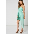 NEW Ladies women MINT GREEN PLEATED BUST AND GEM DRESS WITH SEQUINS DETAIL SIZES S M L