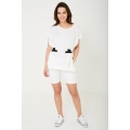 NEW Ladies women OVERSIZED TOP IN WHITE One Size (8-12)