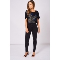 NEW Ladies women BLACK HIGH WAISTED SKINNY JEANS sizes 4 6 7 8 10 12 14 16 18