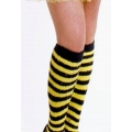 Bee Yellow/Black Stripe Stockings