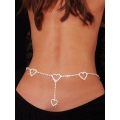 Hearts Rhinestone Waist Chain and Lower Back