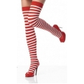 Striped Stockings Red