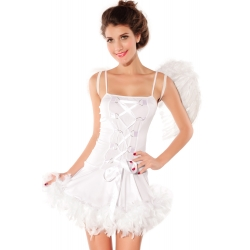 White Sexy Angel Dress and wings