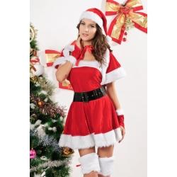 Velvet Miss Santa Costume