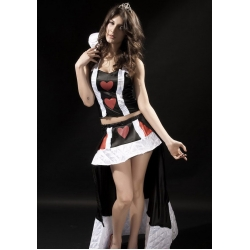 2 Pc Queen of Hearts Costume M 8/10