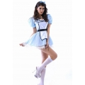Sweet Alice IN WONDERLAND FANCY DRESS COSTUME OUTFIT - Med 8-10 World Book Day