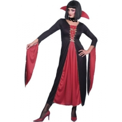 Adult Halloween Classic Lady Vampire Costume 10-14