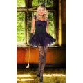 Purple/black Enchanting Mistress  8-10