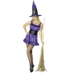 Smithys Adult Sexy Purple Witch Costume 10-12