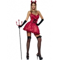 Adult Sexy Halloween Sweet Devil Costume  Med 10-12