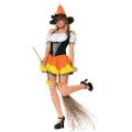 Adult Kandy Korn Witch Costume Med 10-12