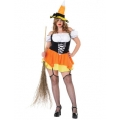 Adult Kandy Korn Witch Costume  Plus 18-22