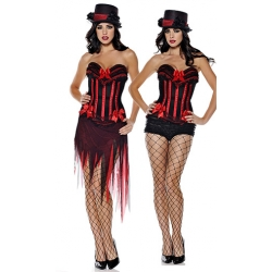Halloween Hotstuff Corset with skirt Red/Black Large