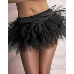Black Layered Petticoat Small