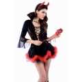 Miss Devil Costume with fork