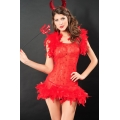 Sexy Flirty Devil Costumes with fork