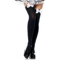 Black Stockings White Bow