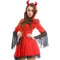Lil Devil Costume with fork
