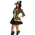 Deluxe Pirate Costume  Medium 8-10