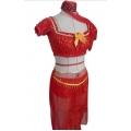 Genie Princess Costume RED 8-10