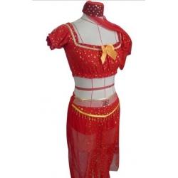 Genie Princess Costume RED XL 12-14
