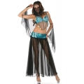 Bellydancer Blue Sequin Costume one size