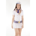White Captain Dress and Hat XL