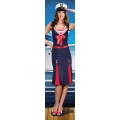 Navy Sailor Dress and Hat  One Size