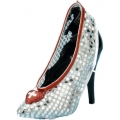Nurse Silver Sequin Shoe Covers